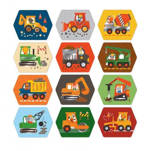 Petit Collage Pexeso stavební stroje