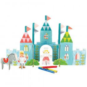 Petit Collage 3D puzzle Zámek s barvami