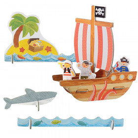 Petit Collage 3D puzzle Piráti s barvami