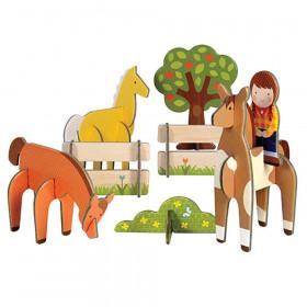 Petit Collage 3D puzzle Koně