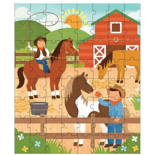 Petit Collage Puzzle v tubě Na ranči