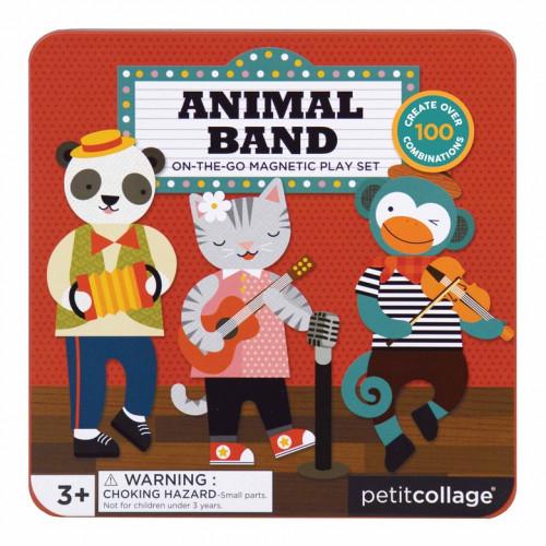 Petit Collage Magnetická knížka Zvířátka