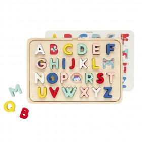 Petit Collage Dřevěné puzzle abeceda