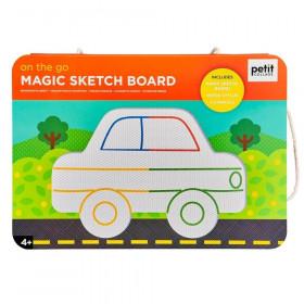 Petit Collage Magnetická kreslící tabulka Na cestách