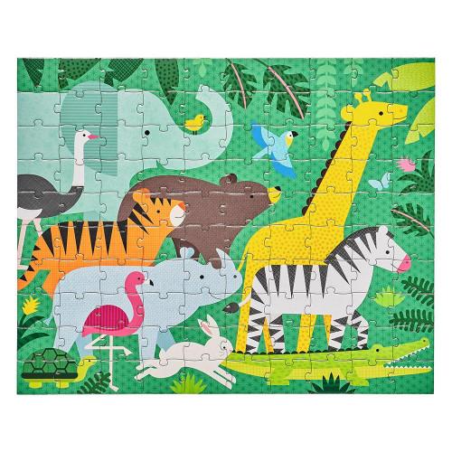 Petit Collage Oboustranné puzzle 2v1 džungle