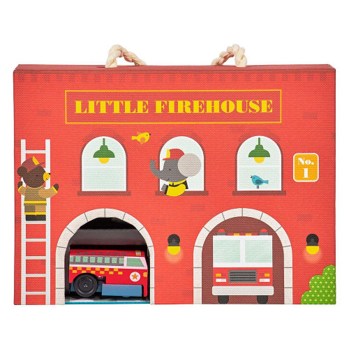 Petit Collage Hrací sada hasičská stanice