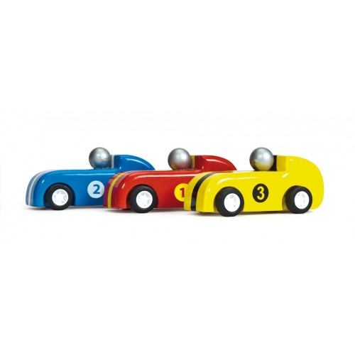 Le Toy Van Set závodních natahovacích aut