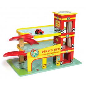 Le Toy Van Garáž Dino's Red