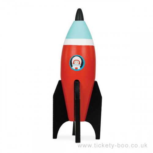 Le Toy Van barevná raketa 1 ks červená Le Toy Van barevná raketa 1 ks červená