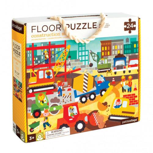 Petit Collage Podlahové puzzle stavba ve městě