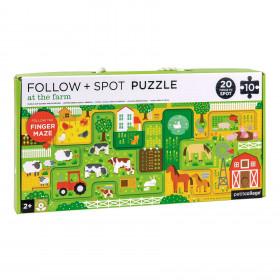 Petit Collage Bludiště a puzzle Farma
