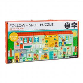 Petit Collage Bludiště a puzzle Náš domov