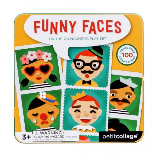 Petit Collage Magnetické puzzle Veselé tváře