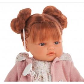 Antonio Juan Realistická panenka Beni s culíčky - zrzavé vlasy 42cm
