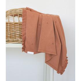 Dětská pletená bavlněná deka Milky terakotová