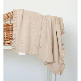 Dětská pletená bavlněná deka Milky béžová
