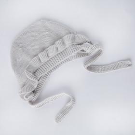 Pletený dětský čepeček Milky šedý