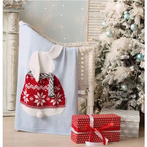 Dětská deka z merino vlny BUNNY Vánoční limitovaná edice