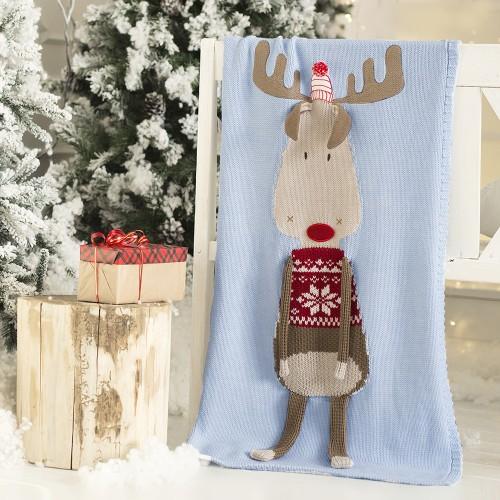 Dětská deka z merino vlny SOB Vánoční limitovaná edice