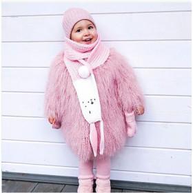 Dětská vlněná šála BUNNY růžová
