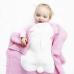 Malá dětská deka z merino vlny Bunny světle růžová