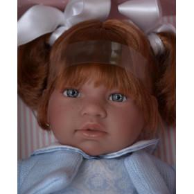 ASIVIL Realistická panenka NOOR - zrzavé vlasy 46 cm