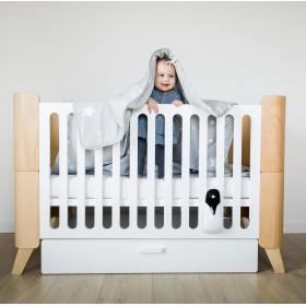 Dětská variabilní postýlka se zásuvkou BELLAMY Hoppa Bílá