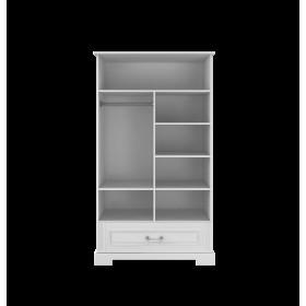 dvoudvěrová šatní skříň BELLAMY INES šedá