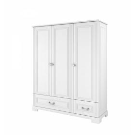 Třídveřová šatní skříň BELLAMY INES bílá