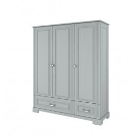 Třídveřová šatní skříň BELLAMY INES šedá