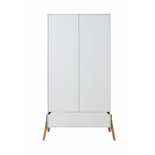 Dvoudveřová šatní skříň BELLAMY Lotta bílá