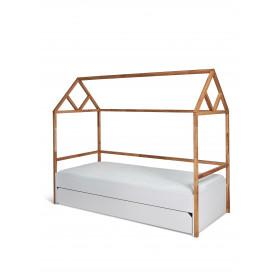 dětská postel domeček se šuplíkem BELLAMY Lotta bílá