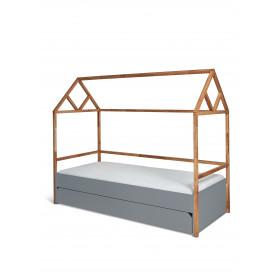 dětská postel domeček se šuplíkem BELLAMY Lotta šedá