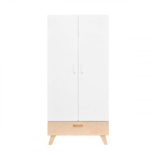 Dvoudveřová šatní skříň BELLAMY Hoppa Bílá