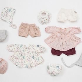 Oblečení pro panenku - Pressed Leaves Rose