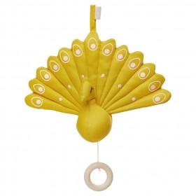 Hudební hračka Peacock - Mustard