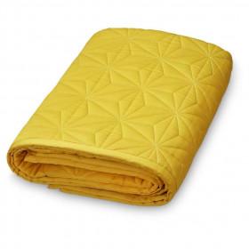 Dětská prošívaná deka 120x120cm - Mustard