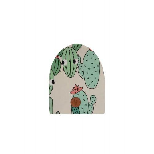 Čepice kaktus ZELENÁ