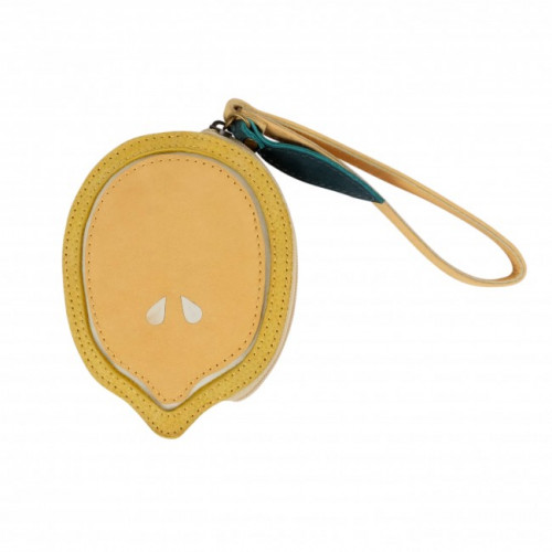 Dětská kožená PENĚŽENKA NANOE FRUIT COIN POUCH | Lemon