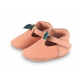 Dětské kožené botičky NANOE | Peach