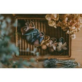 Dětské kožené botičky PINA ORGANZA  Lilac Nubuck