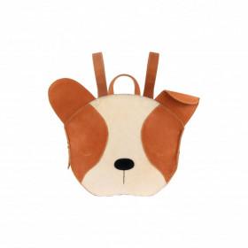 Dětský kožený batoh UMI SCHOOLBAG | Pug (25x30 cm)