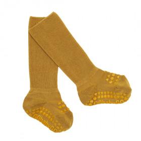 GoBabyGo protiskluzové ponožky bambusové hořčicové