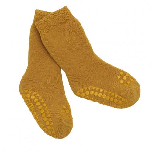 GoBabyGo protiskluzové ponožky hořčicové