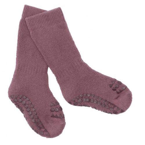 GoBabyGo protiskluzové ponožky fialové