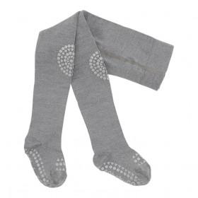 GoBabyGo vlněné protiskluzové punčocháče šedé
