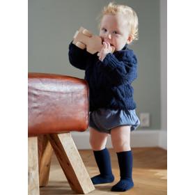 GoBabyGo protiskluzové ponožky bambusové  tmavě šedé