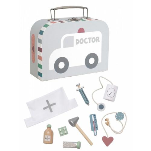 JaBaDaBaDo Lékařský kufřík stříbřený