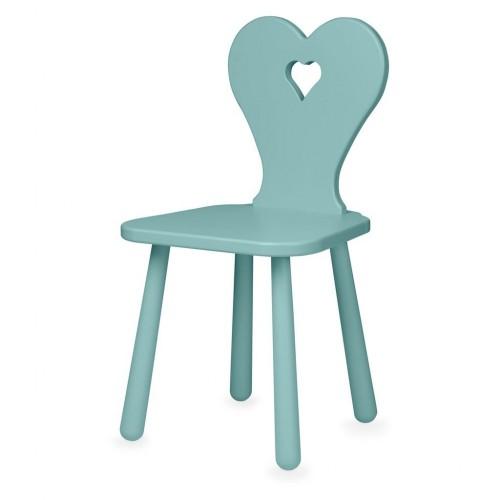 Židlička Heart tyrkysová