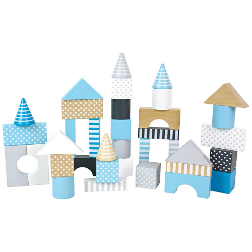 JaBaDaBaDo Dřevěné kostky modré